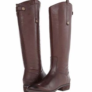 Sam Edelman Penny Leather Riding Boot Wide Calf